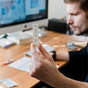 Coronavirus antibody home test kit. COVID-19 Antigen test casset